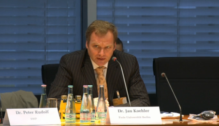 Jan Koehler at the Bundestag