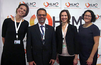 Anne Ellersiek (left) from D1-Project at the Second High Level Meeting