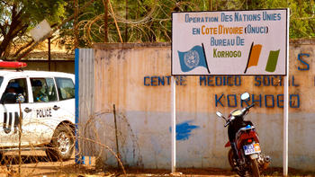 The Regional Office of the UNOCI in Korhogo, Côte d'Ivoire