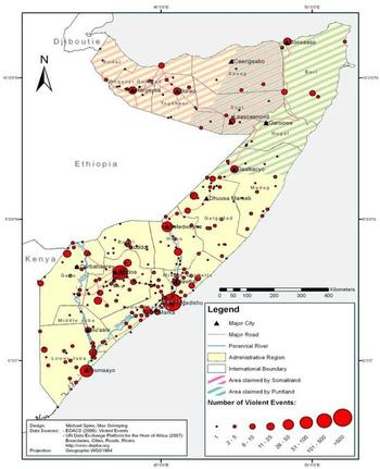 Violent Events in Somalia