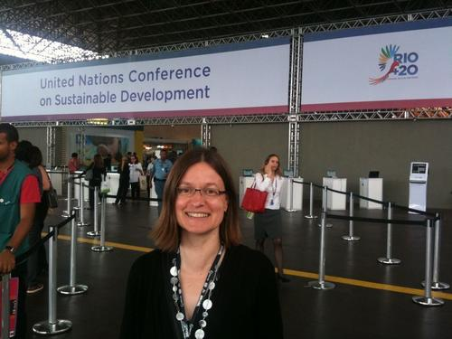 Marianne Beisheim at the UN Conference on Sustainable Development in Rio de Janeiro