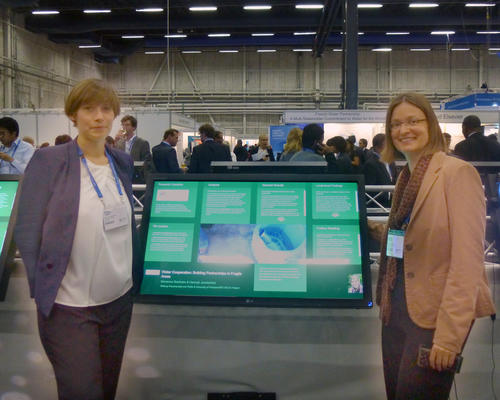 Dr. Marianne Beisheim and Ms. Hannah Janetschek at the World Water Week 2013