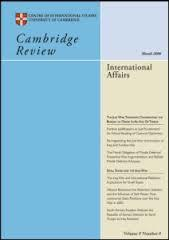 Cover: Cambridge Review of International Affairs