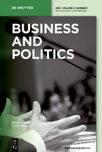 Cover: Business and Politics, 14 (3)