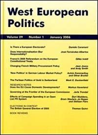 Cover: West European Politics