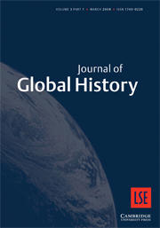 Cover: Journal of Global History 3 (1)