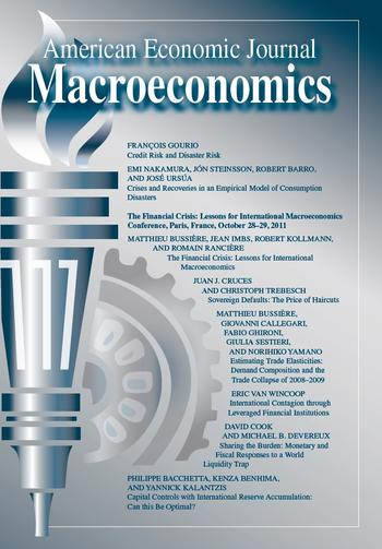 Cover American Economic Journal - Macroeconomics, 5 (3)