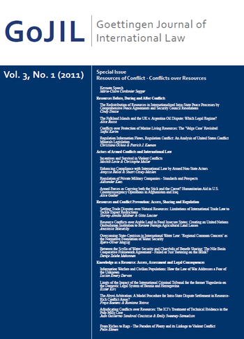 Cover: Goettingen Journal of International Law