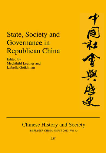 Cover: Berliner China-Hefte/Chinese History and Society, No. 43