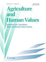 Cover: Agriculture and Human Values