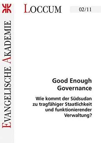 Cover: Good Enough Governance