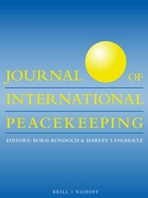 Cover: Journal of International Peacekeeping, 13 (1)