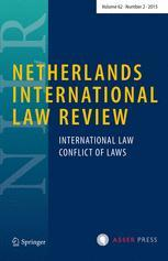 Cover: Netherlands International Law Review