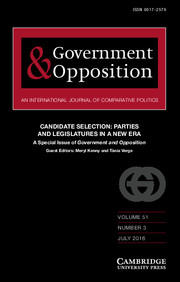 Cover: Government & Opposition