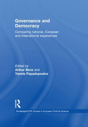 Cover: Governance and Democracy. Comparing National, European and International Experiences