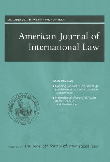 Cover: American Journal of International Law