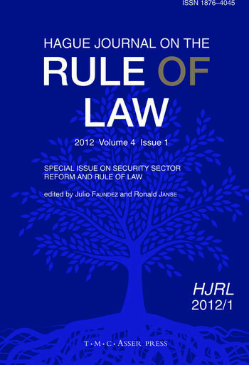 Cover: Hague Journal on the Rule of Law, 4 (1), Special Issue