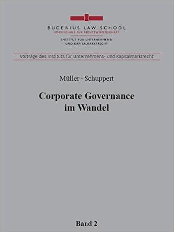 Cover: Corporate Governance im Wandel