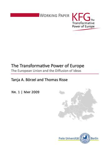 Cover: Working Paper KFG. The Transformative Power of Europe