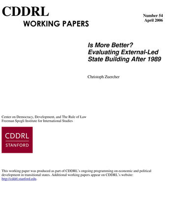Cover: CDDRL Working Papers