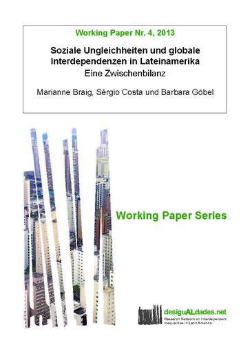 Cover: Working Paper Series. desiguALdades.net