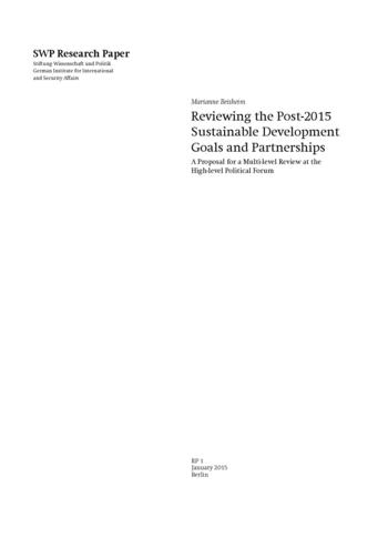 Reviewing the Post-2015 Sustainable Development Goals and Partnerships