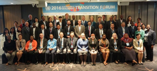 Teilnehmende des Sustainable Development Transition Forums 2016