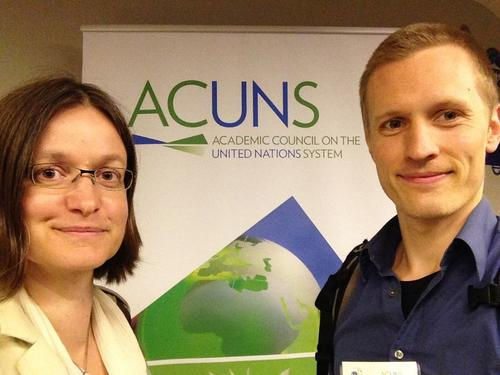 Marianne Beisheim and Nils Simon at the ACUNS conference in Istanbul